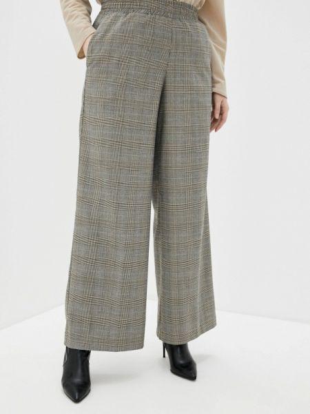 Бежевые расклешенные свободные брюки W&b