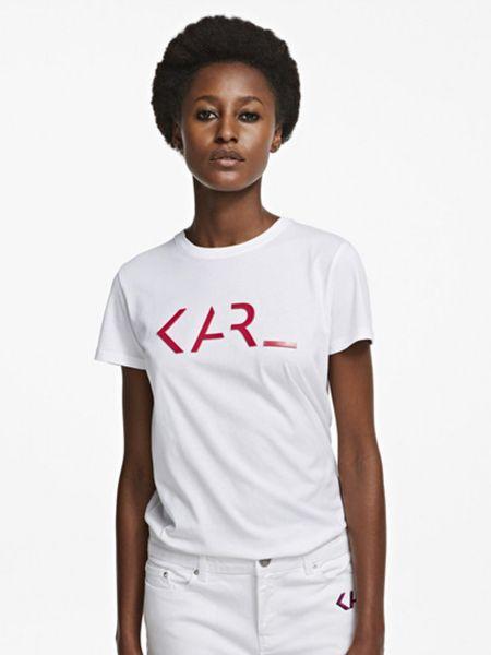 Футболка - белая Karl Lagerfeld