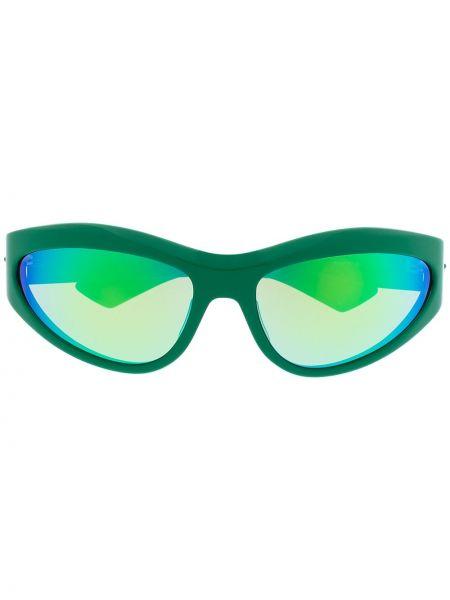 Солнцезащитные очки хаки для полных Bottega Veneta Eyewear