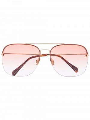Złote różowe okulary Tom Ford Eyewear