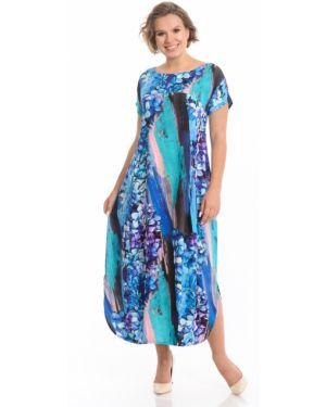 Свободное платье мини с карманами свободного кроя с вырезом Merlis