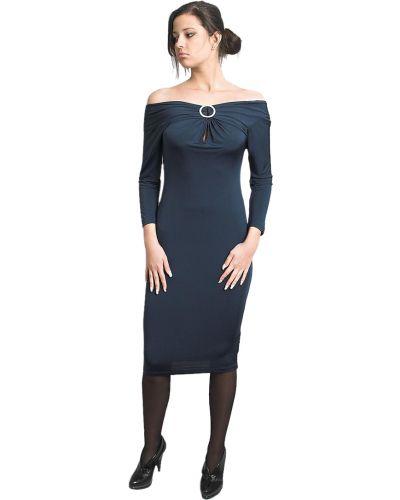 Платье из вискозы - бирюзовое Just Cavalli