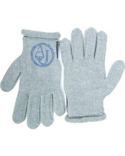 Перчатки акриловые серый Armani Jeans