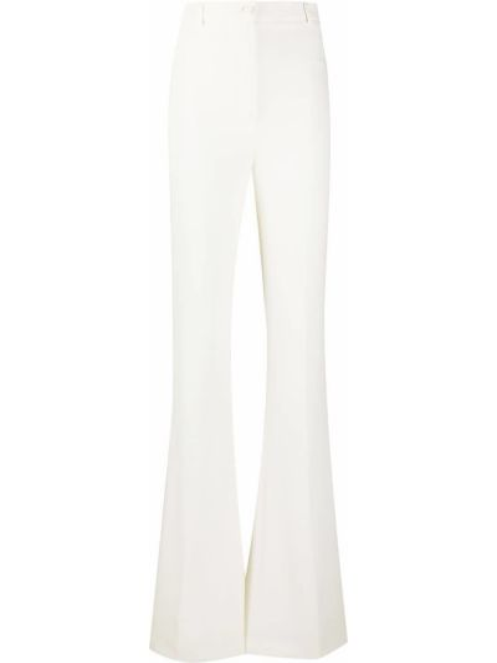 Брючные расклешенные брюки с поясом с высокой посадкой Hebe Studio