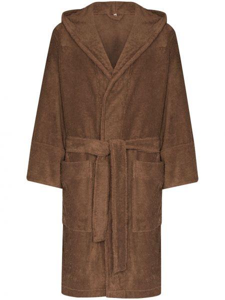 Brązowy bawełna bawełna szlafrok Tekla
