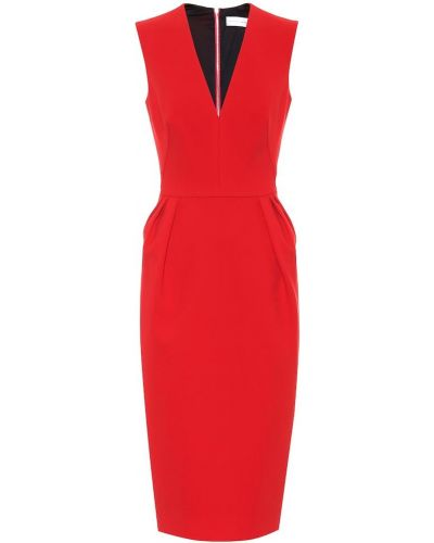 Платье миди из штапеля модерн Victoria Beckham