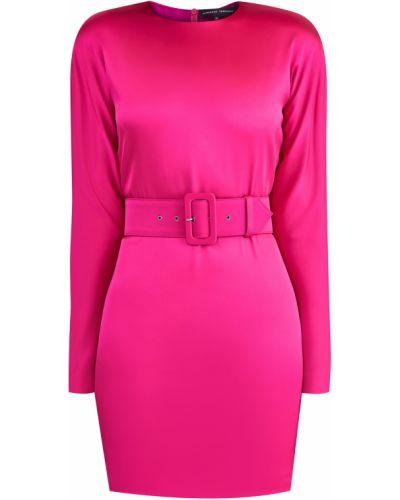 Платье мини розовое шелковое Alexander Terekhov