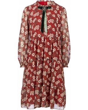 Красное платье миди Vera Moni
