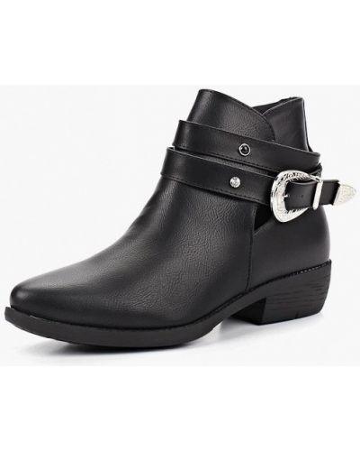 Кожаные ботинки осенние черные Fersini