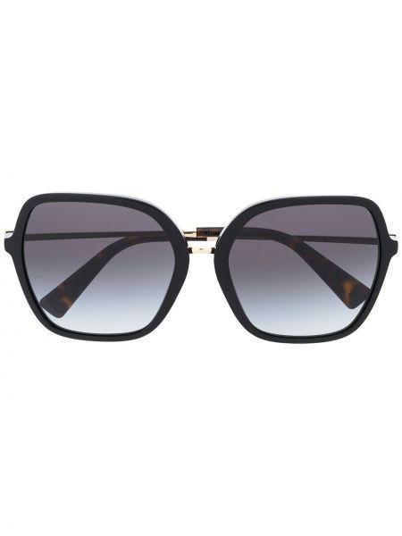 Солнцезащитные очки хаки оверсайз Valentino Eyewear