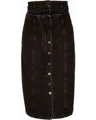 Юбка миди джинсовая с завышенной талией Mo&co