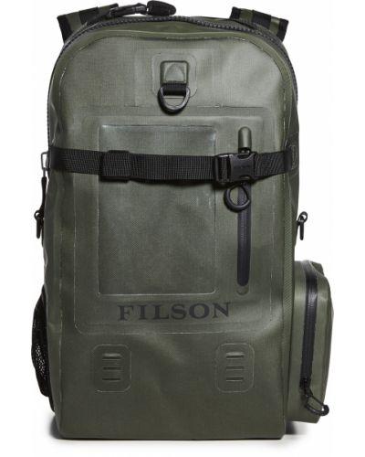 Zielona torba na ramię z siateczką z paskiem Filson