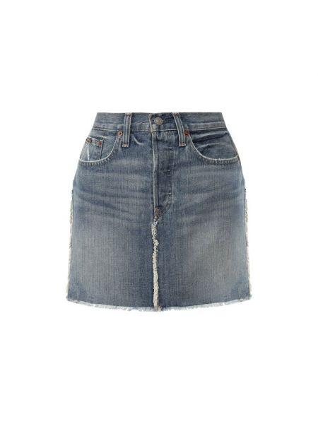 Юбка мини джинсовая с завышенной талией Polo Ralph Lauren