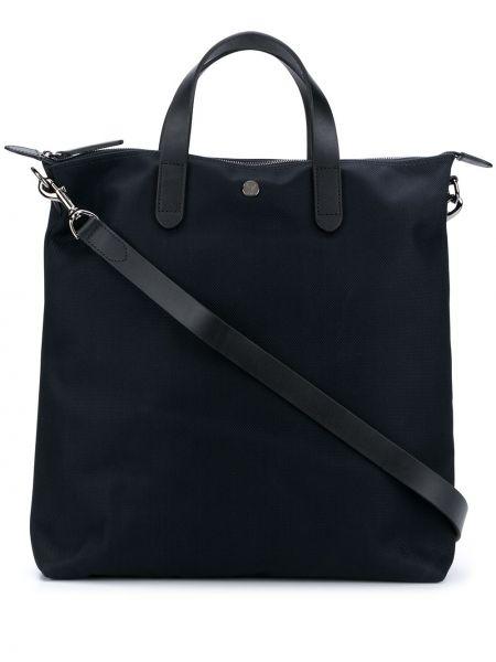 С ремешком серебряная нейлоновая сумка-тоут круглая Mismo