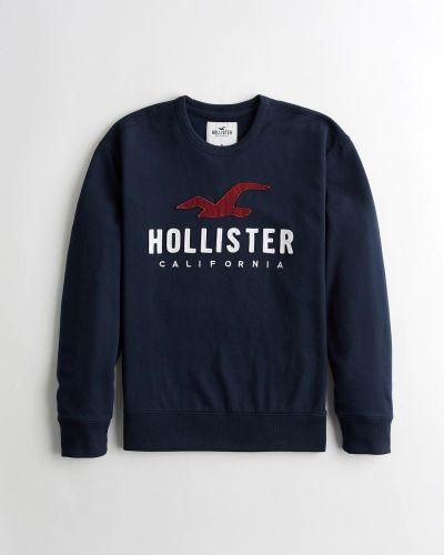 Флисовый свитшот - синий Hollister