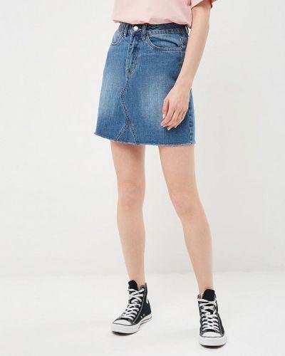 Юбка мини джинсовая весенняя Modis