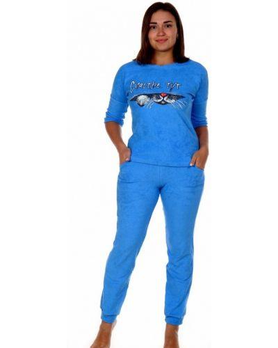Костюмный махровый синий костюм инсантрик