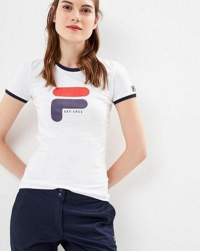 Белая футболка Fila