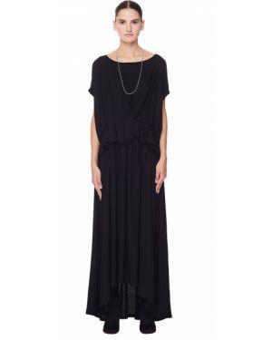 Платье с драпировкой с воротником Ann Demeulemeester