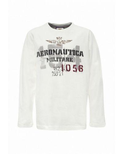 Лонгслив белый Aeronautica Militare