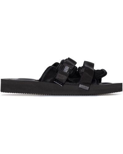 Włókienniczy czarny sandały Suicoke