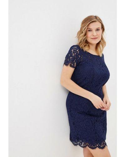 Коктейльное платье весеннее синее Modis