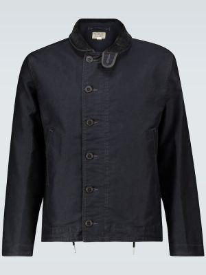Ватная текстильная синяя куртка в морском стиле Rrl