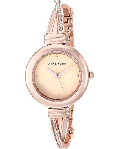 Водонепроницаемые часы кварцевые с камнями Anne Klein