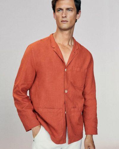 Рубашка с длинным рукавом с длинными рукавами Massimo Dutti