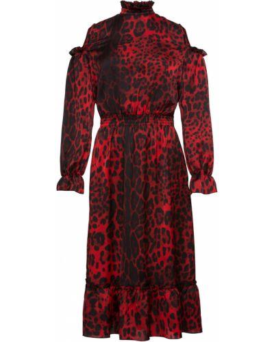 Платье миди шифоновое леопардовое Bonprix