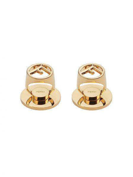 Pierścień ze złota Fendi