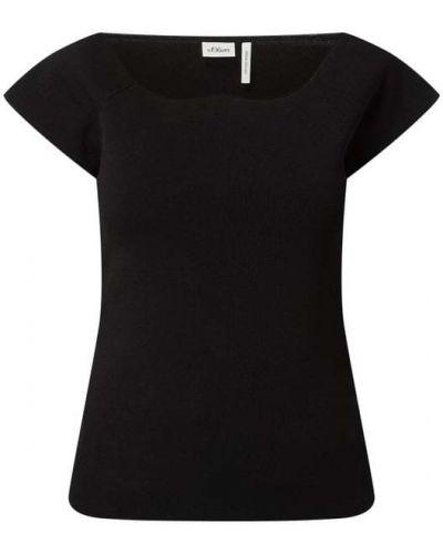 Sweter krótki rękaw - czarny S.oliver Black Label