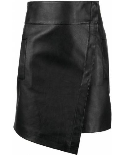 Черная с завышенной талией кожаная юбка Ba&sh