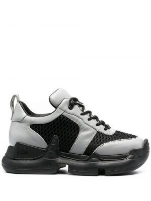 Czarne sneakersy skorzane sznurowane Swear