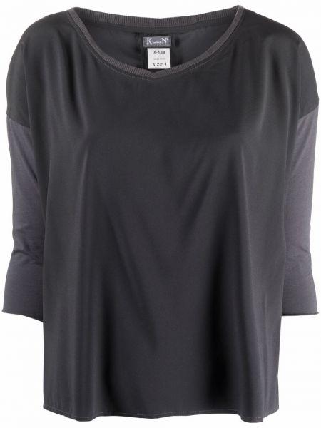 Серая хлопковая блузка Kristensen Du Nord