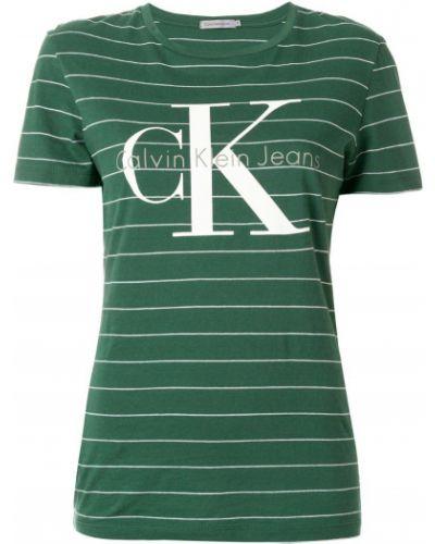 полосатая футболка с логотипом Calvin Klein Jeans