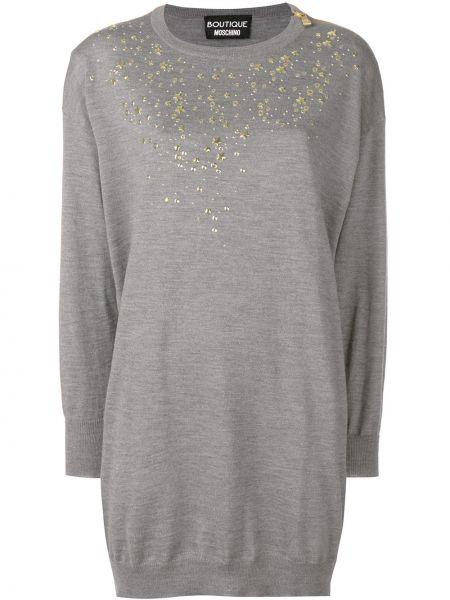 Платье макси платье-свитер с отложным воротником Boutique Moschino