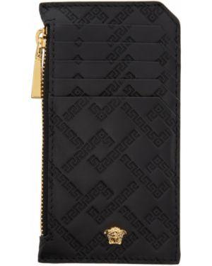 Etui na klucze skórzany czarny Versace