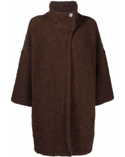 Коричневое акриловое пальто Liu Jo