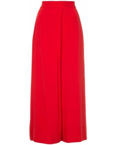 Красные укороченные брюки с поясом свободного кроя Layeur