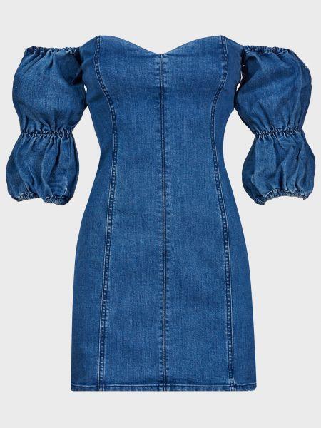 Хлопковое синее платье на молнии Finders Keepers