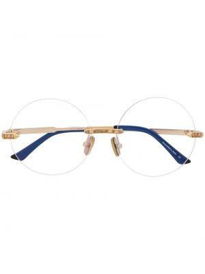 Золотистые желтые очки круглые металлические Anna Karin Karlsson