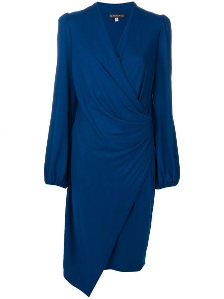 Платье миди с запахом с V-образным вырезом Plein Sud