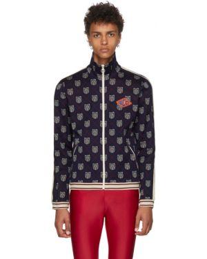 Bluza z kapturem z kołnierzem biały Gucci