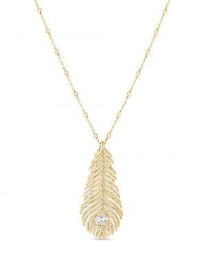 Biały złoty naszyjnik z diamentem Boucheron