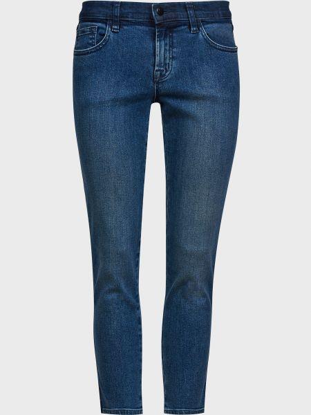 Синие прямые джинсы на молнии J Brand