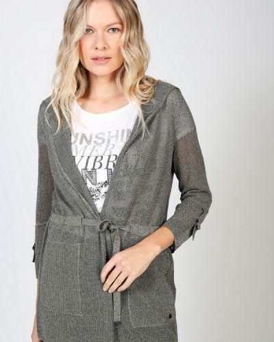 Хлопковый серый пиджак Monari