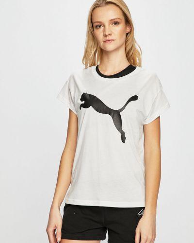 Спортивная футболка белая свободная Puma