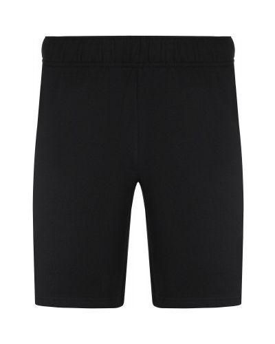 Прямые хлопковые черные спортивные шорты Gsd