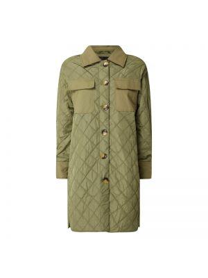Zielony płaszcz pikowany zapinane na guziki Soaked In Luxury